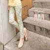 ♥♥พร้อมส่งค่ะ♥♥ กางเกงสกินนี่ขายาว ลายดอกไม้แนววินเทจ สีสันสดใส ลวดลายคลาสสิค สวมใส่สบาย