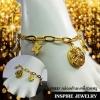 Inspire Jewelry สร้อยข้อมือทองห้อยตุ้งติ้ง งานอินเทรนแฟชั่นชั้นนำ ตัวเรือนหุ้มทองแท้ 24K สวยหรู พร้อมถุงกำมะหยี่