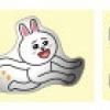 """""""พร้อมส่ง""""นำเข้าจากญี่ปุ่น 100% Line Sticker ตกแต่ง โทรศัพท์และปุ่มโฮม - Conyใส่แว่น+Brown"""