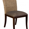 เก้าอี้ไม้แต่งผักตบชวา IFWH-003