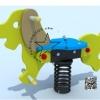 PP-NW02 สปริงโยกเยกสุนัขสีเหลือง