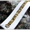 สร้อยข้อมือหุ้มทองแท้100% หนา 1Microns เต็ม ตัวเรือนบรอนด์ทอง