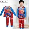ชุดนอนเด็ก Caluby ลาย Spider Man (ขอบขาว/กก.แดง) (นุ่มสบาย) 2Y 3Y 4Y 5Y 6Y 7Y