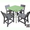 WHR01-01 โต๊ะสี่เหลี่ยม Center พร้อมเก้าอี้ ระดับอนุบาล ( 1 ชุดประกอบด้วย โต๊ะสี 1 ตัว เก้าอี้สีเทา 4 ตัว)