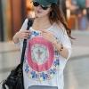 พร้อมส่ง (ฟรีไซส์สาวอวบใส่ได้) ATA167 ใหม่! เสื้อยืด ทรงสวย หน้าสั้นหลังยาว พิมพ์ลายวงนักษัตร สีสวย #383