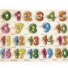 จิ๊กซอว์หมุดไม้ ตัวเลข 0-20 พร้อมคำศัพท์