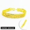Inspire Jewelry สร้อยข้อมือทองลายเลตก้างปลา น้ำหนัก 13กรัม งานทองไมครอน ชุบเศษทองคำแท้ ยาว 17x1cm.,17.5x1cm.