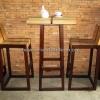 ชุดโต๊ะบาร์ไม้สัก TB-08T/CR-08T