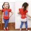 ชุดแฟชั่นเกาหลี เด็กผู้หญิง เสื้อ กางเกง รูปหมี สีแดง มีไซส์ 90 100 110 120 130