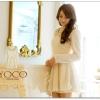 ♡♡Pre Order♡♡ ชุดเดรสเจ้าหญิง แขนยาว คอบัวปักลาย ผ้าขนมิ้งค์นุ่ม ช่วงเอวมีสายผูกริบบิ้นผูกสวยหวาน น่ารักสุดๆ