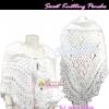 ลงแมกาซีน TB655 ::Sweet Knitting Poncho:เสื้อคลุมถักไหมพรมขนแกะอย่างดีนุ่มนิ่มสุดหรู ลายถักสวยมาก งานแฮนเมด สีขาวเข้ากับชุดทุกสีแต่งง่าย