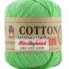 ไหมพรม Cotton 100% รหัสสี 04 Fruit Green