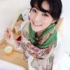 ผ้าพันคอลายวินเทจ Vintage : ผ้าพันคอ Viscose - size 170x70 cm - ขอบเขียว