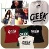 [[พร้อมส่ง]] Geek0179 เสื้อยืดแขนเบิ้ลลายgeek รุ่นนี้เป็นลายรุ่นที่2 นะคะ font ต่างกัน ทุกอย่างเหมือนเดิม