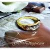 แหวนเพชรใหญ่ฝังล็อค gold plated 5microns/white gold plated