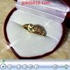 แหวนหัวใจดวงเดียวบากลาย ทอง2microns