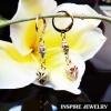 INSPIRE JEWELRY ต่างหูห่วงทองต่อลาย ห้อยหัวใจทองตอกลาย long 4cm งานปราณีตแบบร้านทอง สวยงาม น่ารัก ใส่ถอดง่าย ใส่ได้กับเสื้อผ้าชุดแบบ ของขวัญวันเกิด วันแม่ ปีใหม่ วาเลนไทน์