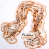 ผ้าพันคอแฟชั่นสวยหรู Luxury : สีเหลืองส้ม CK0093