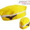 หมวกแอร์เหลืองคาดขาว