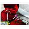 แหวนทับทิมดอกไม้ gold plated 2Microns and Pattinum