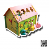 (PRO-07-16)PS-2025 บ้านหยอดบล็อกพร้อมนาฬิกา