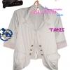 #หมด#แบบสาวเกาหลี ฮิตตามให้ทันBlazerตัวโปรด TA425:Blazer Lover: ใหม่! เสื้อคลุมเบลเซอร์คอปก ผ้าคอตตอนยืดเก๋ที่ปลายแขนเป็นสตริป ได้ลุคเก๋ๆ สีเทาอ่อน