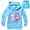 เสื้อกันหนาวเด็ก ลายหัวใจ เจ้าหญิงหิมะ Frozen สีฟ้า 100 130