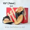 **พร้อมส่ง** รองเท้า FitFlop VIA (Patent) : Black : Size US 5 / EU 36