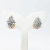 INSPIRE JEWELRY ต่างหูเพชรสวิส ฝังหนามเตย หุ้มทองแท้ 100% or gold plated/diamond clonning 1.7x1.3cm.