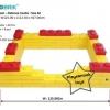US-6004 ตัวต่อขนาดใหญ่ Macrobrik Snow ball pool defense castle size:M 1x2 (73 pcs.)สีเหลือง/แดง พร้อมลูกบอล200ลูก สำเนา
