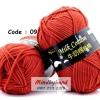ไหมพรม Milk Cotton รหัสสี 09 Beautiful Red