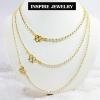 Inspire Jewelry สร้อยคอเม็ดอิตาลี 2 กษัติรย์ มีตั้งแต่ 3มิล ยาว 20 นิ้ว และ2มิล ยาว24นิ้ว และ 5มิล ยาว 18นิ้ว งานจิวเวลลี่แบบร้านเพชร ร้านทอง เหมาะสำหรับใส่โชว์เม็ดอิตาลี หรือใส่กับจี้ก็สวยหรู มีคุณค่า