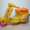 Scooter เชือกดึง สีเหลือง มีไฟ