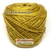 ไหมคอตตอลซิล (ไหมยาวี) รหัสสี 011 สีเหลืองมัสตาลเข้ม (เหลืองอมน้ำตาล)