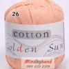 ไหมพรม Cotton 100% รหัสสี 26 Light Orange