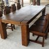 ชุดโต๊ะอาหารและเก้าอี้ไม้สัก TBG-20 SET 8