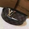 เข็มขัด Louis Vuitton ท็อปมิลเลอร์ 1:1 สายสีเทากว้าง 1.5นิ้ว หัวเงิน