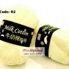 ไหมพรม Milk Cotton รหัสสี 02 Naibai