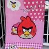 ผ้าห่ม Angry Birds Bomb ชมพู