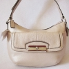 COACH Kristin Metallic Leather Top Handle Bag #47377 Champagne