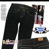 #SKINNY ฮิตฮอตแฟชั่นเกาหลีเก๋สุดๆ PB958 DenimSkinny กางเกงสกินนี่ Skinny ผ้ายีนส์ฟอกสีสวยสียีนส์ดำ งานก๊อป Levi's คัตติ้งด้ายสี ไซส์ L