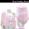 ลงแมกาซีน TB654 :Sweet Knitting Poncho:เสื้อคลุมถักไหมพรมขนแกะอย่างดีนุ่มนิ่มสุดหรู ลายถักสวยมาก งานแฮนเมด สีชมพูหวานเข้ากับชุดทุกสีแต่งง่าย