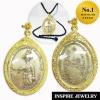 Inspire Jewelry จี้สมเด็จพระเจ้าตากสินมหาราช เนื้อเงินเก่า ค่ายตากสิน จันทบุรี สร้าง 2518 บันดาลโชคลาภ เนื้อทองเหลือง พร้อมเชือกไหมญี่ปุ่น และถุงกำมะหยี่สุดหรู