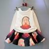 ชุดเสื้อกันหนาวลายตุ๊กตาสาวน้อย + กระโปรงผ้าโฟม (เนื้อผ้าหนาดีค่ะ)