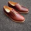 รองเท้าผู้ชาย | รองเท้าแฟชั่นชาย Brown Derby Oiled Pull Up Leather
