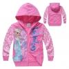 เสื้อกันหนาวเด็ก ลาย หิมะ สีชมพู Frozen มีไซส์ 95 100
