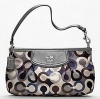 Coach NEW Madison Sequins Large Wristlet # 47244 Silver/Grey Multi