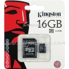 "Micro SD Card 16GB ""Kingston"" (SDC10, Class 10)"