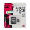 "Micro SD Card 64GB ""Kingston"" (SDCX10V, Class 10)"