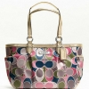 COACH GALLERY SCARF PRINT TOTE # 19464